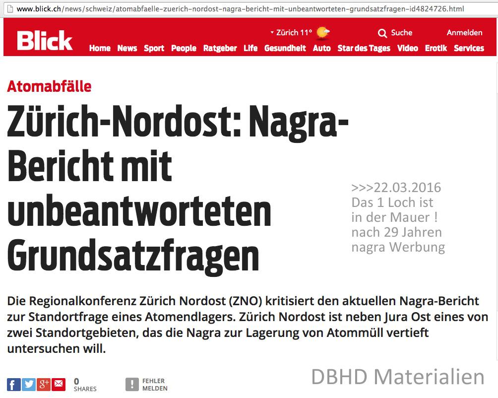 nagra scheitert mit Zürich NordOst Endlager Vorschlag an der vernichtenden Kritik der Regional Konferenz