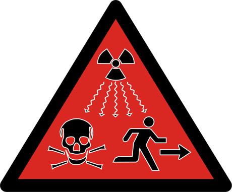 Direct_Radiation_Sign_Run-Direkte ionisierende Strahlung Warnzeichen