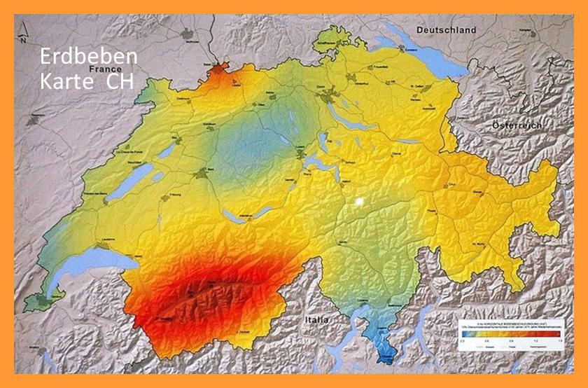 Erdbebenkarte Schweiz Nagra