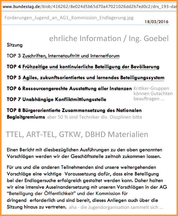 Uebertriebene Forderungen_Jugend_an_AG1_Kommission_Endlagerung