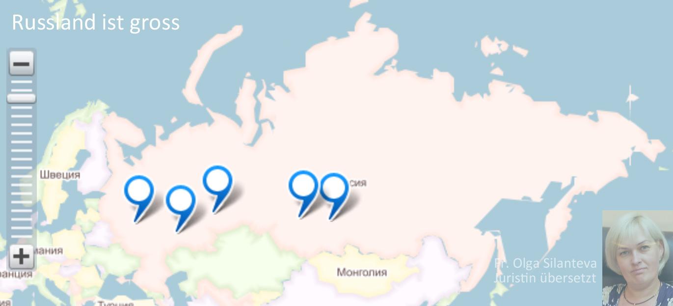 Russland ist gross - Frau Olga Silanteva übersetzt Russisch-Englisch-Russisch